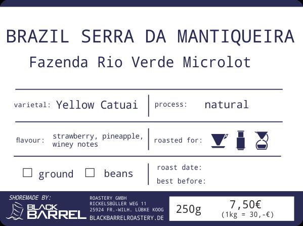 BRAZIL FAZENDA RIO VERDE Microlot